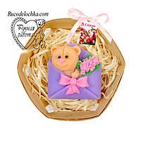 Мило набір 8 березня, мишка в конверті, подарунок мамі, подрузі, жінці, ручна робота