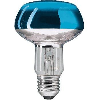 Лампа рефлекторная PHILIPS 60W R80 E27 синяя