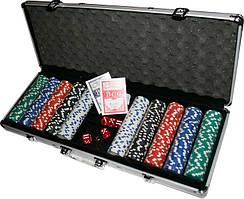 Набор для игры в покер в металлическом кейсе. 500 ф