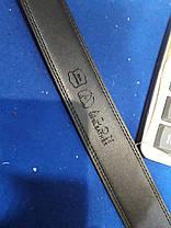 Ремінь чоловічий шкіряний Alon з пряжкою автомат ширина 3,5 см чорний Р-1095, фото 2