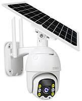 Поворотная аккамуляторная уличная IP камера видеонаблюдения Q5 с солнечной панелью