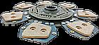 Диск сцепления МТЗ-80-2022  85-1601130 - 7 лепестков, металлокерамика. Диск зчеплення МТЗ 80 металокерамічний, фото 2