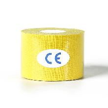 Кинезиологический тейп, кинезио тейп 5cм*5м 🍓 Жёлтый