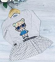 Дитяче трикотажне плаття, розмір 1-4 роки (4 од. уп. ), Беж