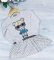 Детское трикотажное платье, размер 1-4 года (4 ед. в уп. ), Беж