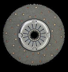 Диск сцепления ведомый мягкий Т-150 СМД-60 Z=17 (простая накладка)
