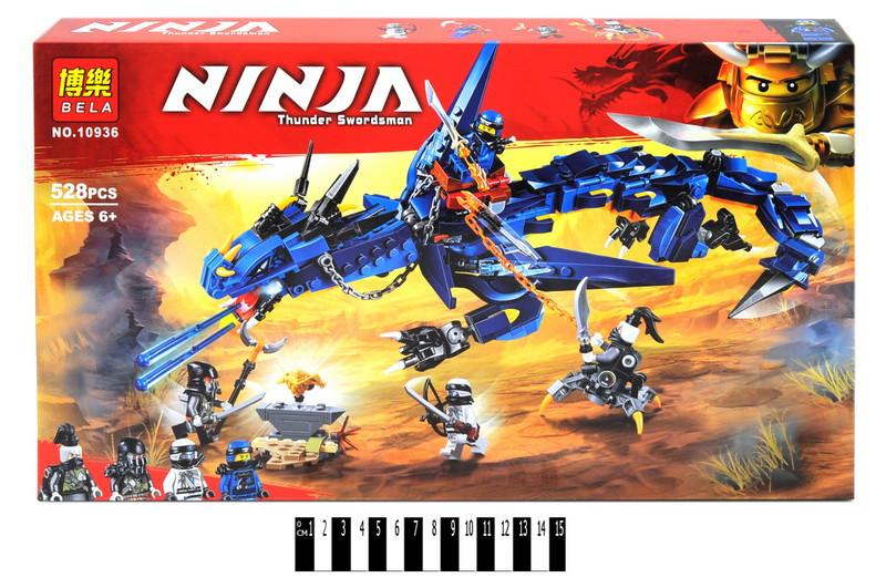 Конструктор Ninja: синий дракон, 528 дет