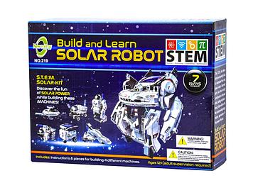 Конструктор на солнечных батареях Робот Космопарк   7в1