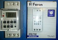 Таймер (реле времени щитовое) недельный Feron TM41 3500W/16A