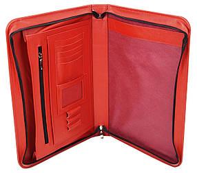 Деловая папка из натуральной кожи Portfolio Красный (Port1002 red)