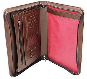 Деловая папка из натуральной кожи Portfolio Коричневый (Port1002 brown)