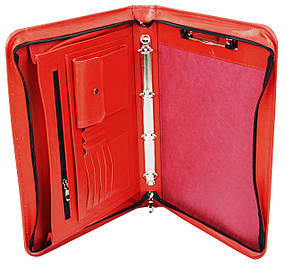 Деловая папка из натуральной кожи Portfolio Красный (Port1001SB red)