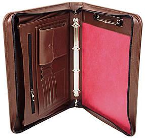 Деловая папка из натуральной кожи Portfolio Коричневый (Port1001SB brown)