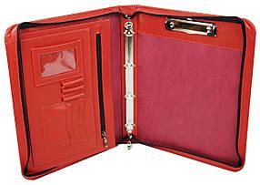 Деловая папка из натуральной кожи Portfolio Красный (Port1003 red)