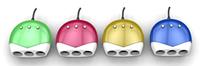 Тройник в прикуриватель + USB  (цвета в ассортименте)