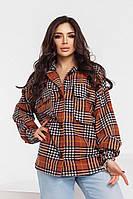 Стильная, очень теплая женская рубашка, фото 1