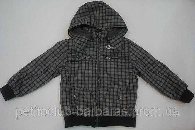 Куртка демисезонная клетчатая для мальчика