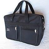 Мужская сумка Wallaby через плечо барсетка папка портфель А4+ сумки мужские 8w2630 черная, фото 2