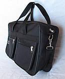 Мужская сумка Wallaby через плечо барсетка папка портфель А4+ сумки мужские 8w2630 черная, фото 4