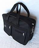Мужская сумка Wallaby через плечо барсетка папка портфель А4+ сумки мужские 8w2630 черная, фото 5
