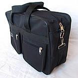 Мужская сумка Wallaby через плечо барсетка папка портфель А4+ сумки мужские 8w2630 черная, фото 6