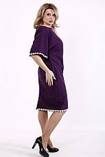 Елегантне та витончене плаття батал фіолетове з мереживом, фото 3