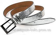 Ремінь шкіряний жіночій Fs.Style 30fs001 колір срібло