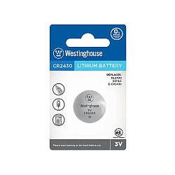 Літієві Кнопкові батарейки – CR2430-BP1 Westinghouse (Ціна вказана за 1 шт,)