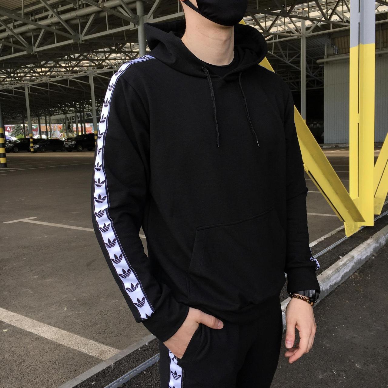 Худи мужская Adidas сезон весна/осень черного цвета в стиле Адидас XL