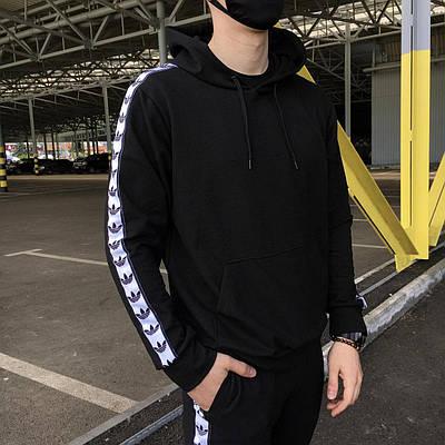 Худи мужская Adidas сезон весна/осень черного цвета в стиле Адидас