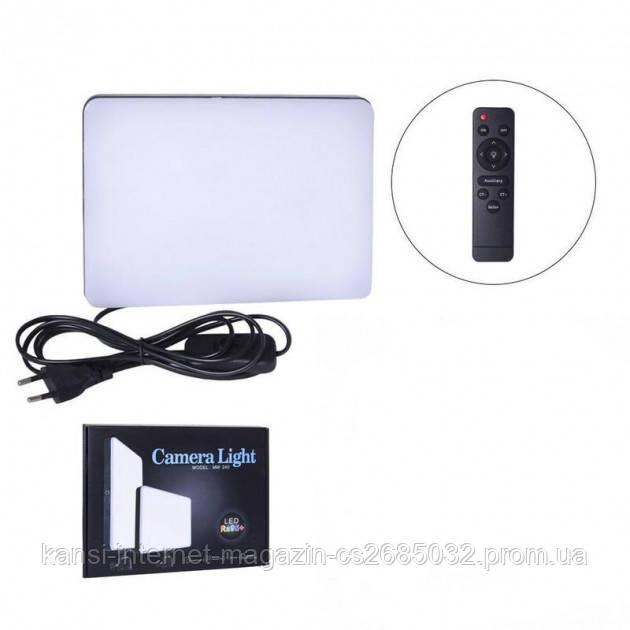 Прямоугольная LED лампа 23х16см с пультом профессиональный свет для фото и видео съемки Light MM-240 Ra95+