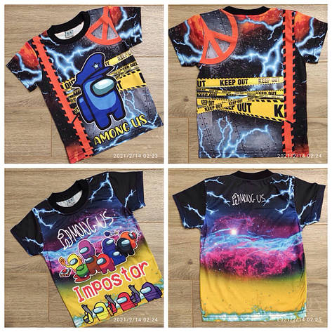 Детская футболка для мальчика р.5-8 лет, фото 2
