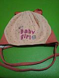 Шапочка для девочки новорожденная, фото 3
