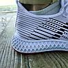 ОСТАННІЙ РОЗМІР 45 Літні кросівки сині чоловічі текстильні сітка в стилі adidas yeezy, фото 2