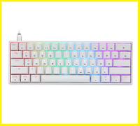 Механическая игровая (геймерская) клавиатура с подсветкой клавиш GEEK GK61 White (белая) светящаяся RGB клава