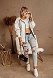 Женская теплая толстовка на молнии трехнить с начесом сзади принт размер: универсал 48-52, фото 6
