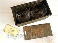 """Набор из 2 стаканов для виски с гравировкой"""" 290 мл в деревянной коробке Дуб, фото 4"""