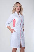 Модный медицинский халат на молнии