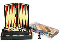 Игра 3 в 1 магнитная 23 см*23 см (шашки+шахматы+нарды).