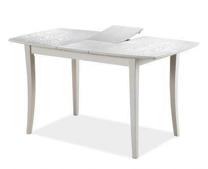 Стол деревяный в гостинную, раскладной Signal Martina bianco