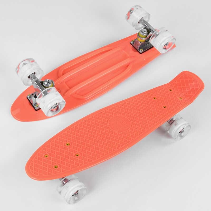 Скейт Пенни борд 1102 (8) Best Board, доска=55см, колёса PU со светом, диаметр 6см