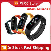 Умные часы Xiaomi Mi band 5, Fitnes tracker M5, часы для фитнеса, smart watch, смарт годинник, РЕПЛИКА Mont