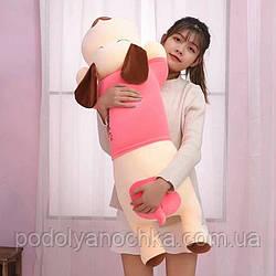 Іграшка-плед-подушка  Велика собака🐶🐾 різні кольори , розмір іграшки 70х35