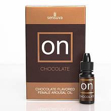 Возбуждающе масло с вибрацией вкусом шоколада Sensuva ON Arousal Oil for Her 5 мл - Love&Life