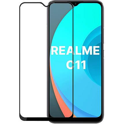 Защитное стекло Full screen PowerPlant для Realme C11, Black, фото 2