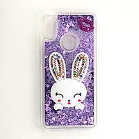 Чехол Glitter для Xiaomi Redmi S2 бампер жидкий блеск Заяц Фиолетовый