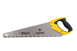 """Ножівка по дереву Topex - 500 мм 7T х 1"""", потрійна заточка Aligator (10A451), (Оригінал)"""