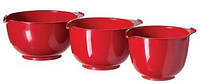 Миски (набор) пластиковые 3 шт красные (22, 19, 17 см) Curver CR-0116