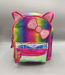 Детский рюкзак с бантиком 4 цвета - малиновый