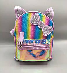 Детский рюкзак с бантиком 4 цвета - сиреневый